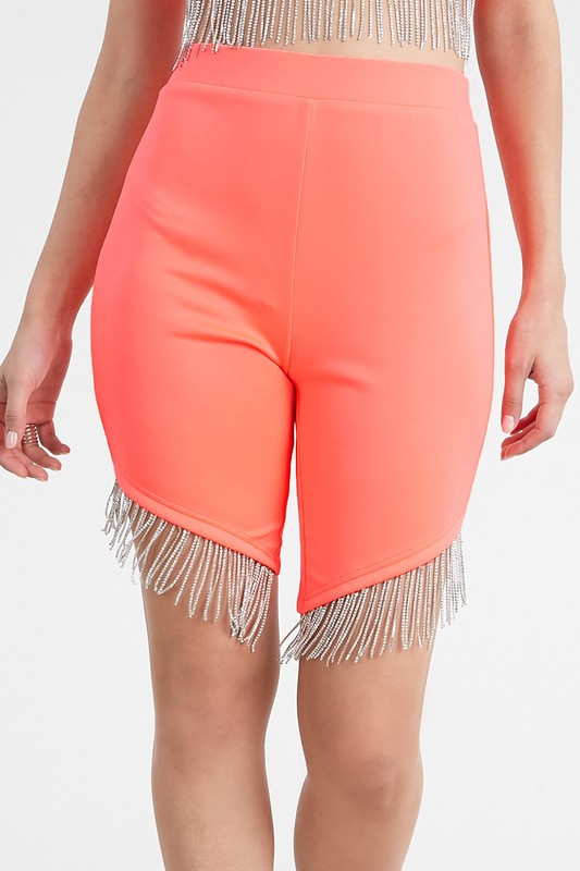 Stretch Scuba Knit Biker Shorts with - orangeshine.com