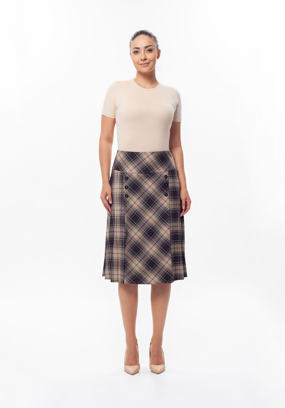 Stylish Plaid Skirt  - orangeshine.com
