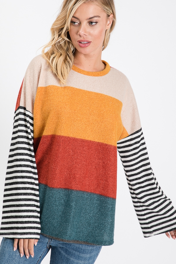 Alison Brushed Knit Tunic - orangeshine.com