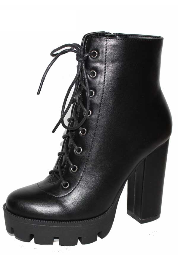 Chunky heel rounded toe booties - orangeshine.com