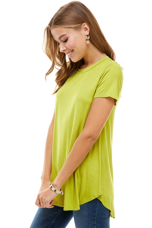 Relaxed Loose Cut Short Sleeve Top - orangeshine.com