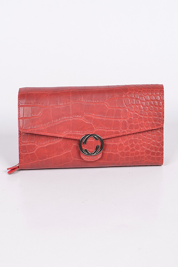 Snakeskin Double C Clutch - orangeshine.com