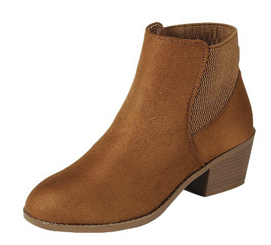 LADIES BLOCK HEEL RIVET ANKLE BOOTIE - orangeshine.com