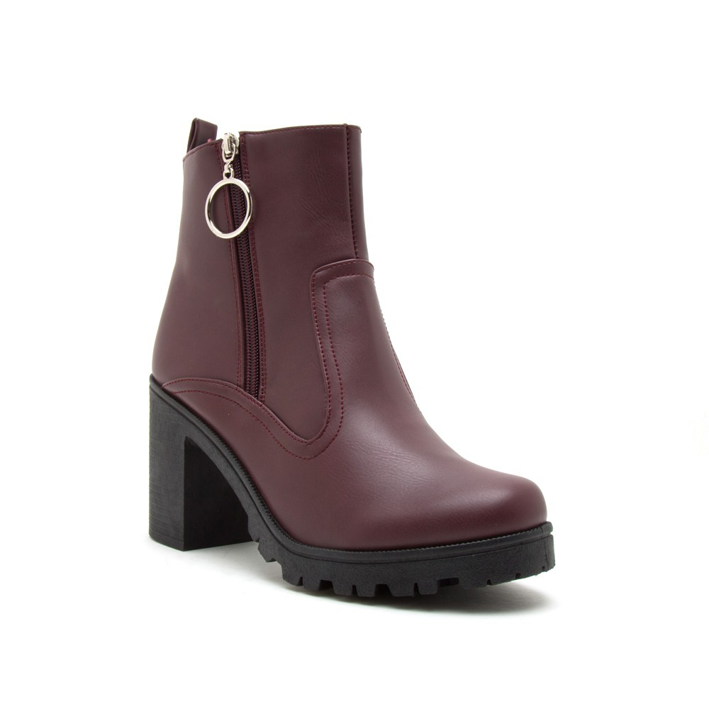 WOMENS SIDE ZIPPER ANKLE BOOTIES - orangeshine.com