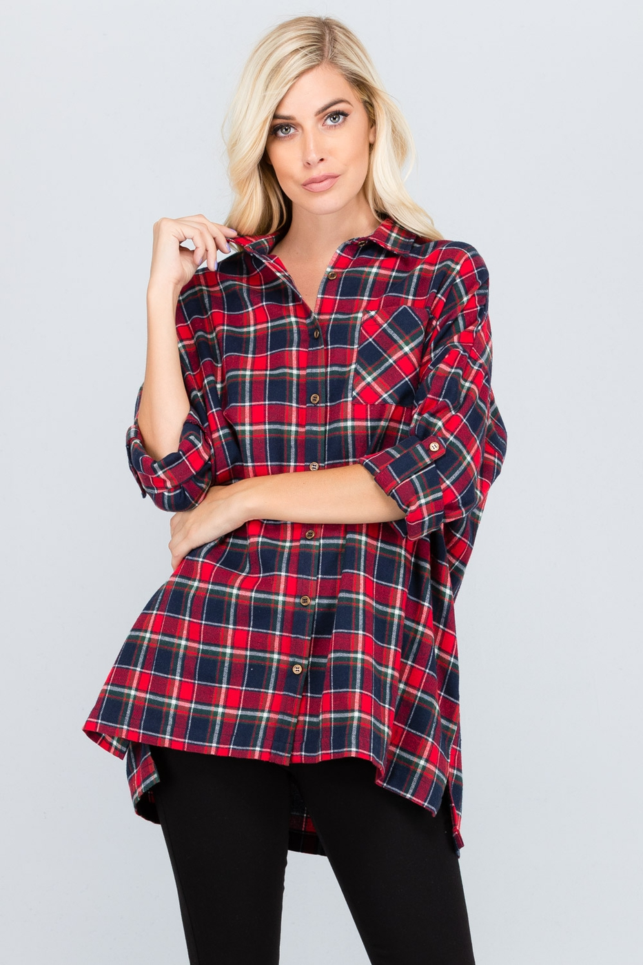 PLAID LOOSE FIT SHIRT - orangeshine.com