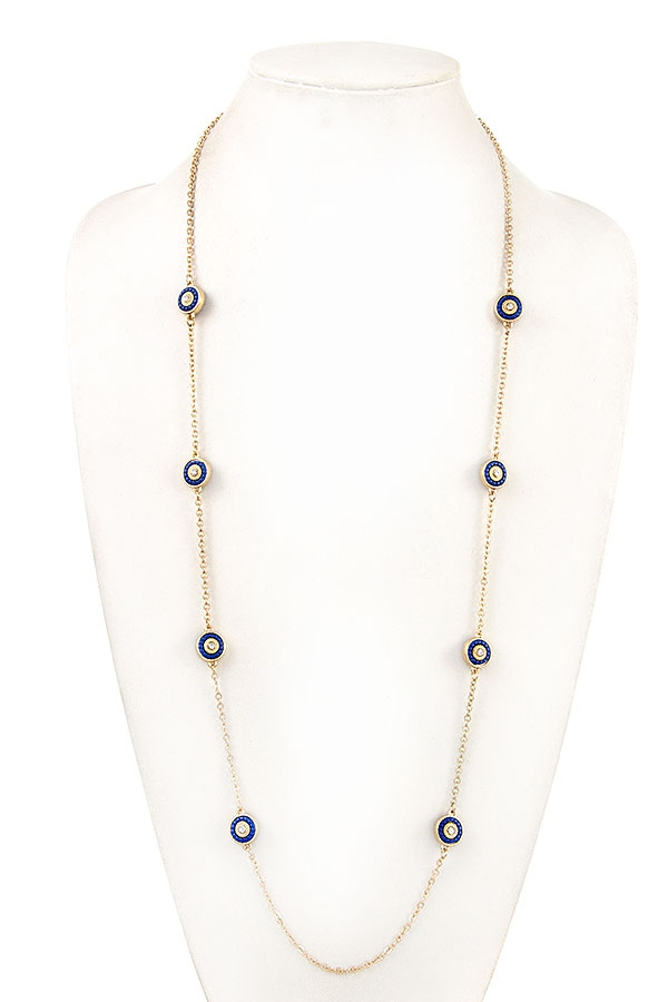 ELONGATED ROUND STATION NECKLACE - orangeshine.com