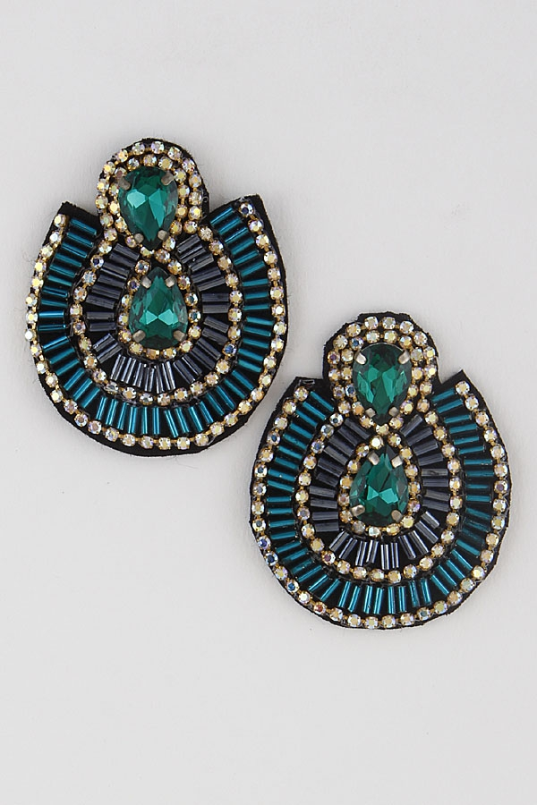 Sequin Curtain Earrings - orangeshine.com