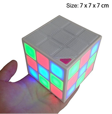 Cube Portable LED RGB Light speaker - orangeshine.com