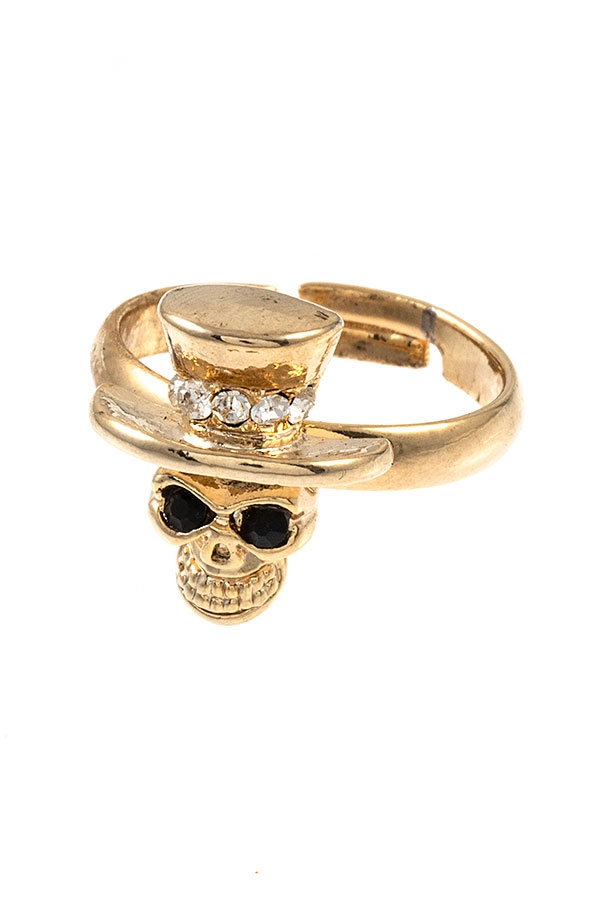 SKULL MID RING - orangeshine.com