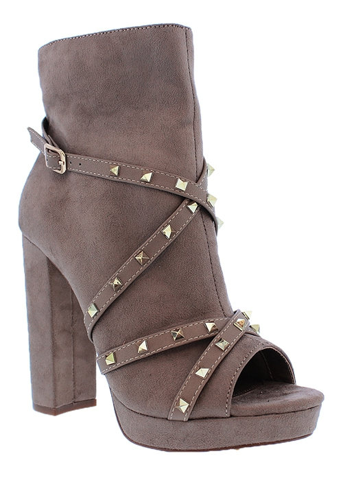 PEEP TOE HIGH HEEL ANKLE BOOTIE WITH - orangeshine.com