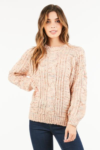 CASUAL MULTI COLOR KNITTED SWEATER  - orangeshine.com