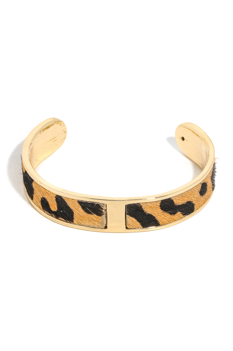 Animal Print Bar Cuff Bracelet - orangeshine.com