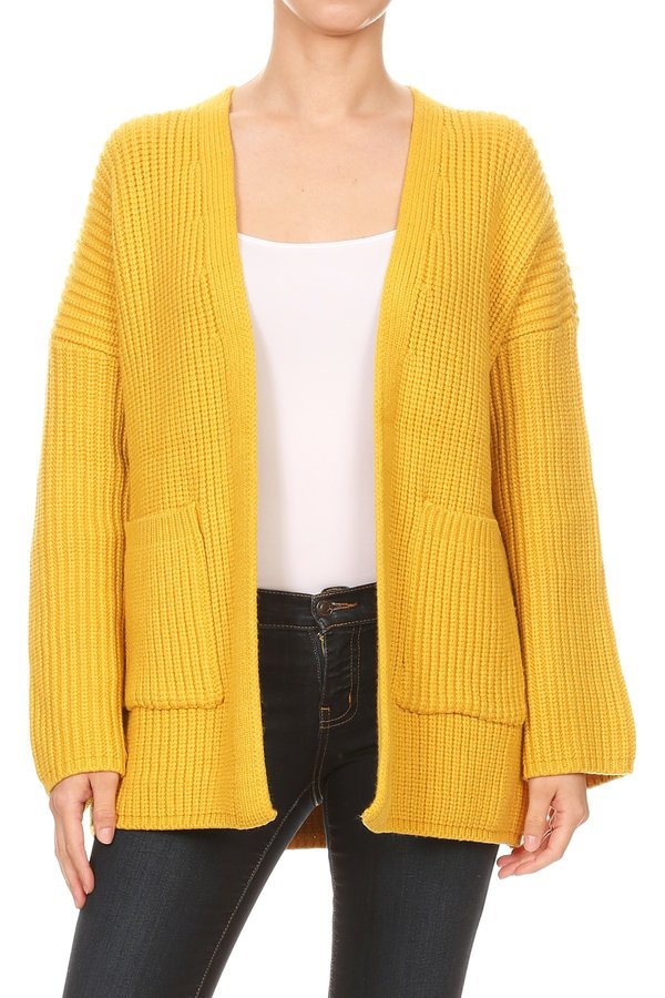 Womens Open Front Cardigan Sweaters - orangeshine.com