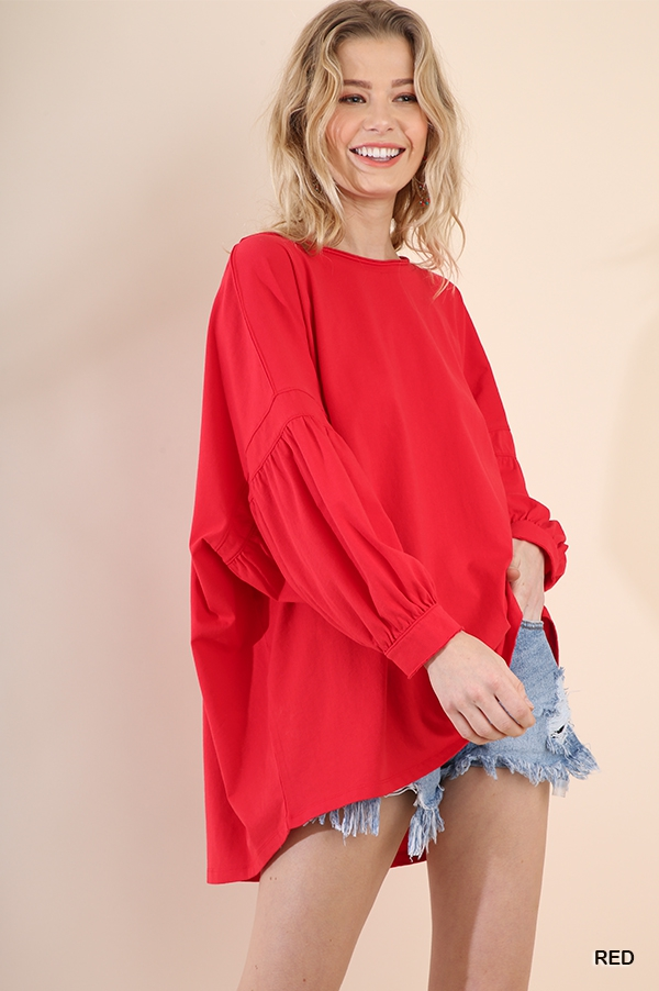 Balloon Sleeve Top - orangeshine.com