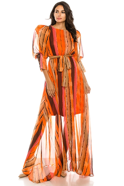 Orange maxi dress - orangeshine.com