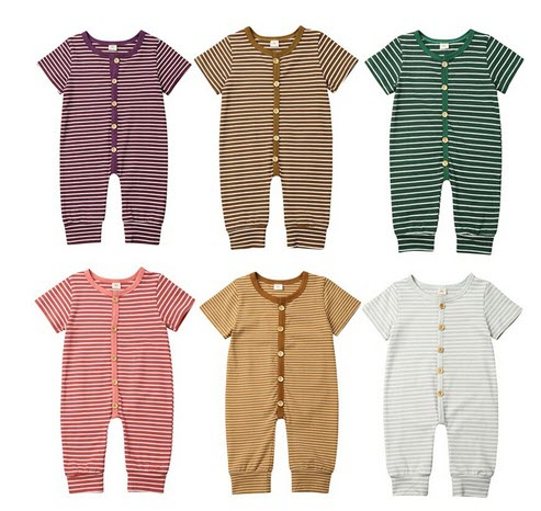 Baby Striped Romper - orangeshine.com