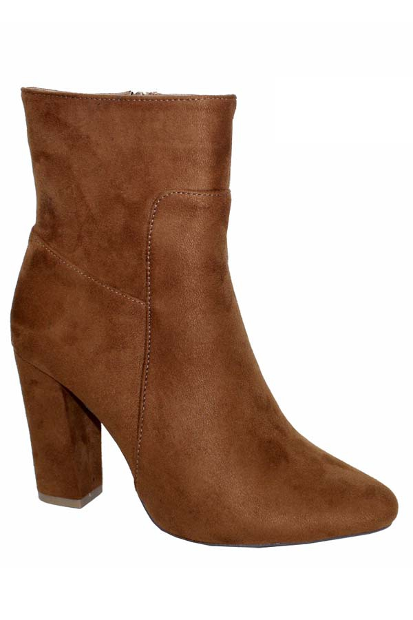 Chunky High heel point toe booties - orangeshine.com