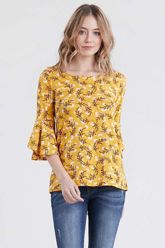 ROUND NECK QUARTER SLEEVE TOP - orangeshine.com