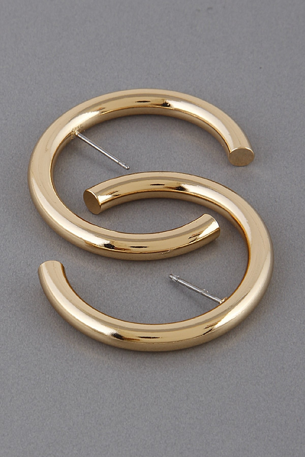Classic Style Hoop Earrings - orangeshine.com