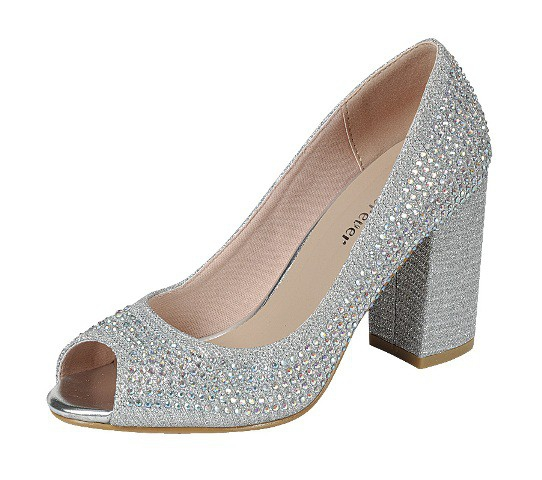 LADIES OPEN TOE BLOCK HEEL PUMPS BEC - orangeshine.com