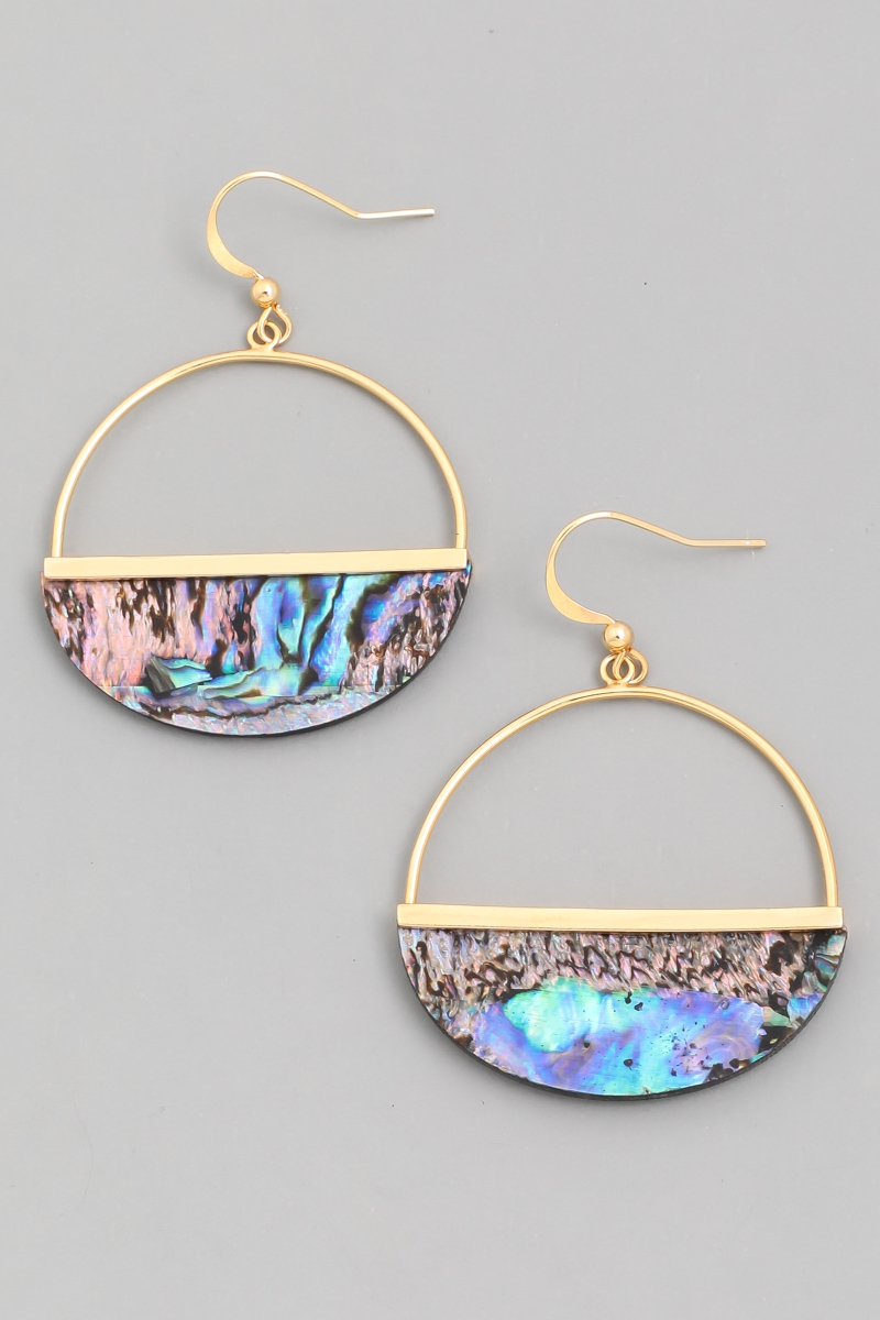 Half Hoop Drop Earrings - orangeshine.com