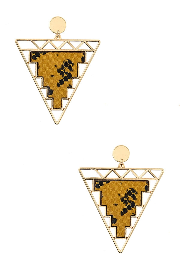 TRIANGLE FRAMED EARRING - orangeshine.com