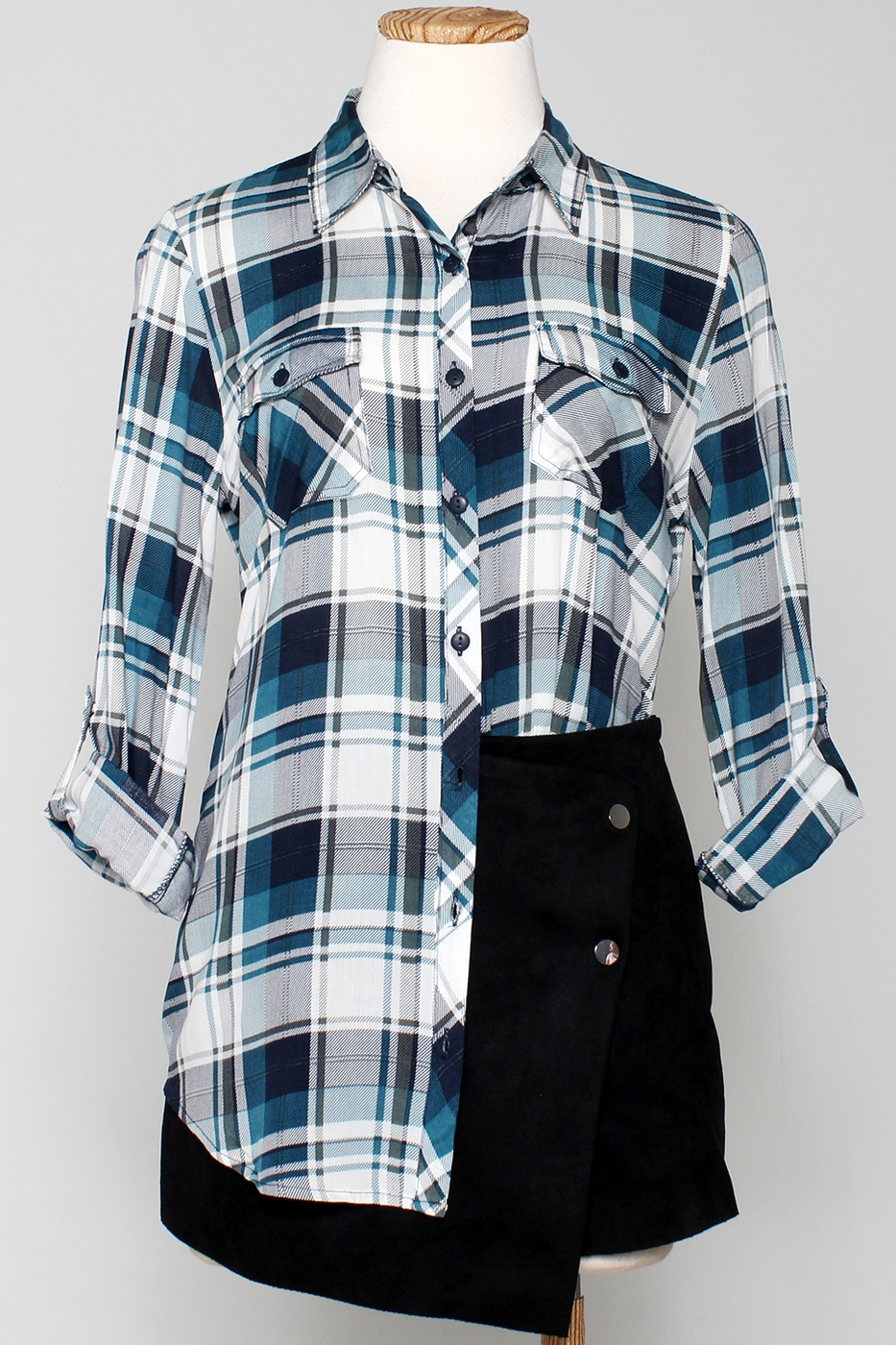 NON STRETCH PLAID CHECKER SHIRTS - orangeshine.com