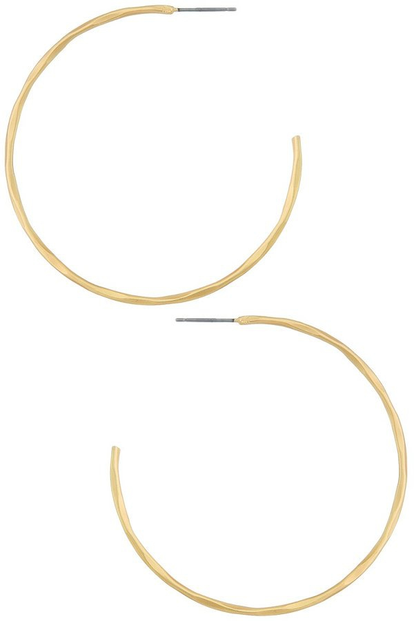 Textured c shape hoop earrings - orangeshine.com