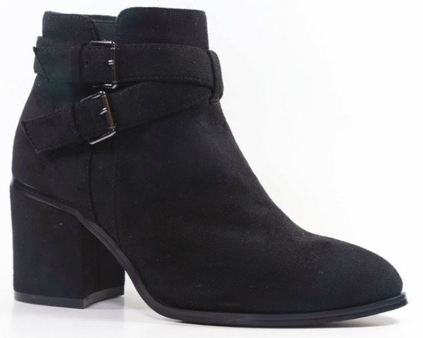 CRISS CROSS BUCKLED POINTY BOOTIES G - orangeshine.com