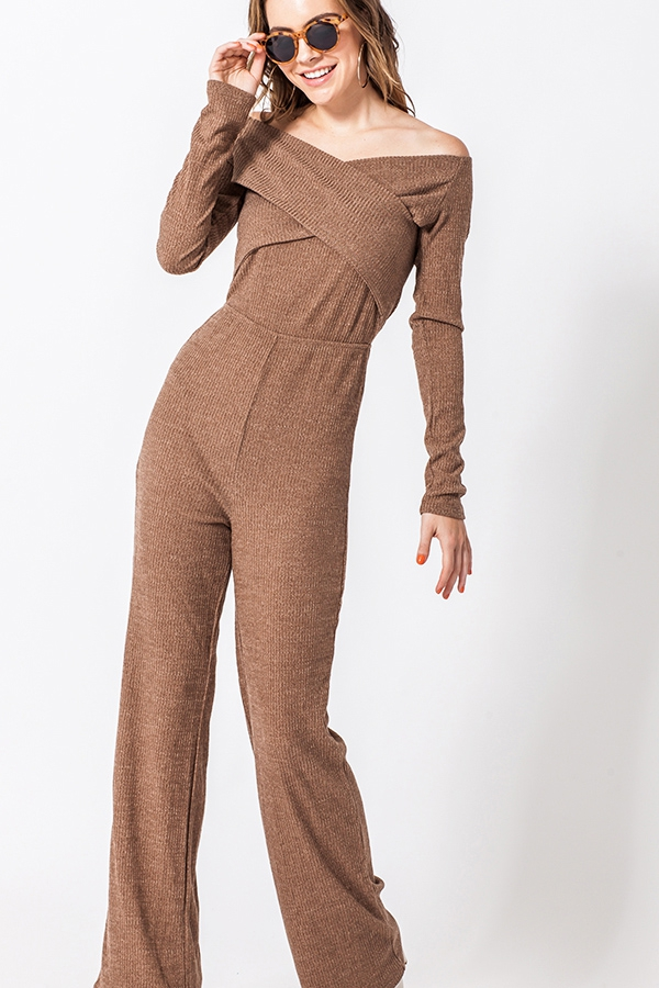 CROSS TOP KNIT JUMPSUIT - orangeshine.com