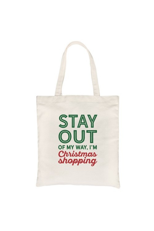 Christmas Shopping Canvas Bag - orangeshine.com