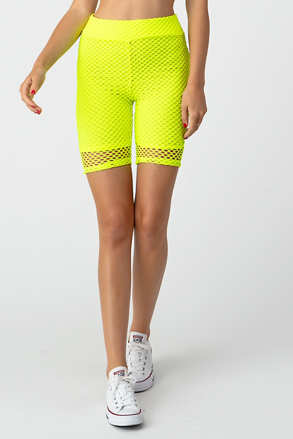 FISHNET BIKER SHORTS - orangeshine.com