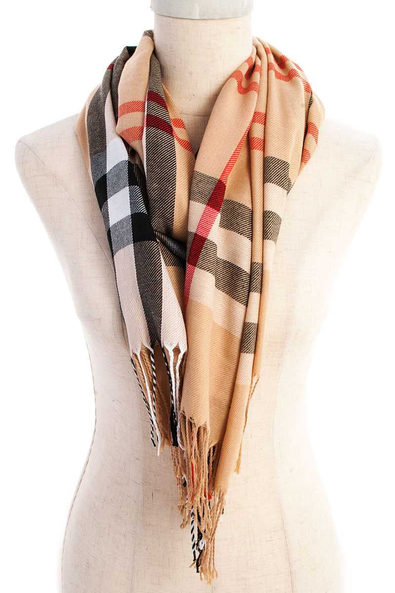 Hot Trendy Modern Check Scarf - orangeshine.com