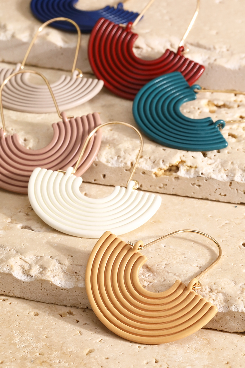 Retro Semi-Circle Earrings - orangeshine.com