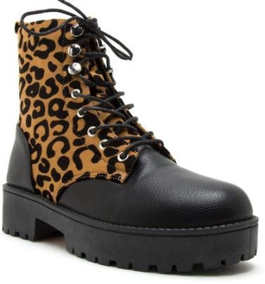 MERGED COMBAT LACE UP ANKLE BOOTIES  - orangeshine.com