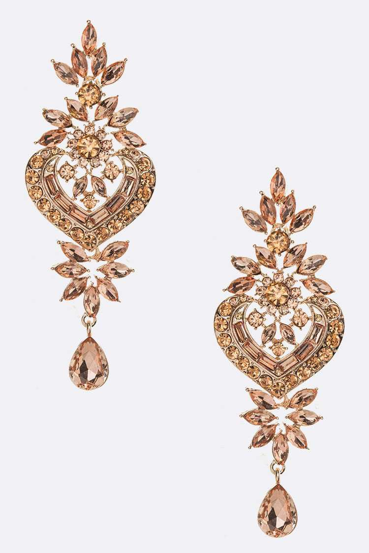 Crystal Statement Chandelier Earring - orangeshine.com