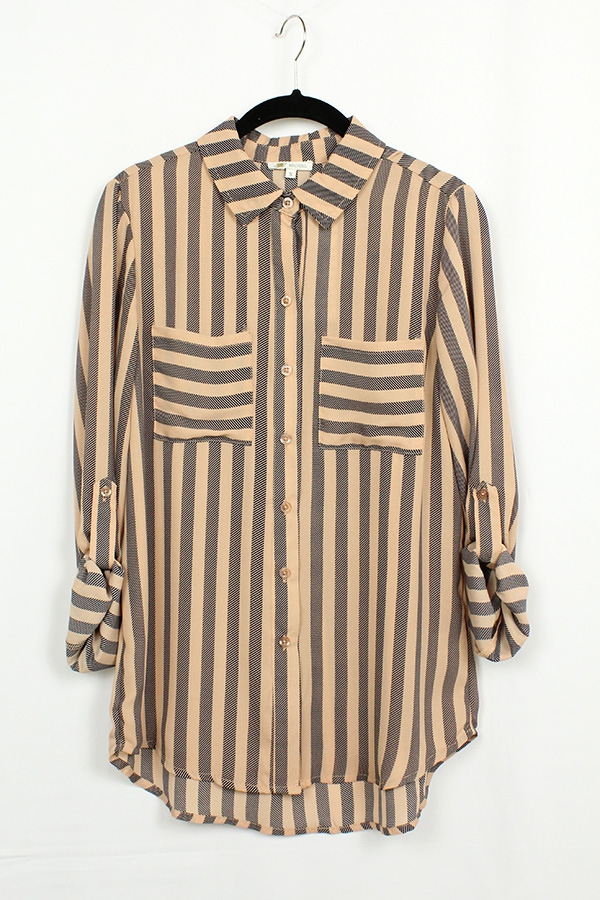 Pocket Stripe Shirt  - orangeshine.com