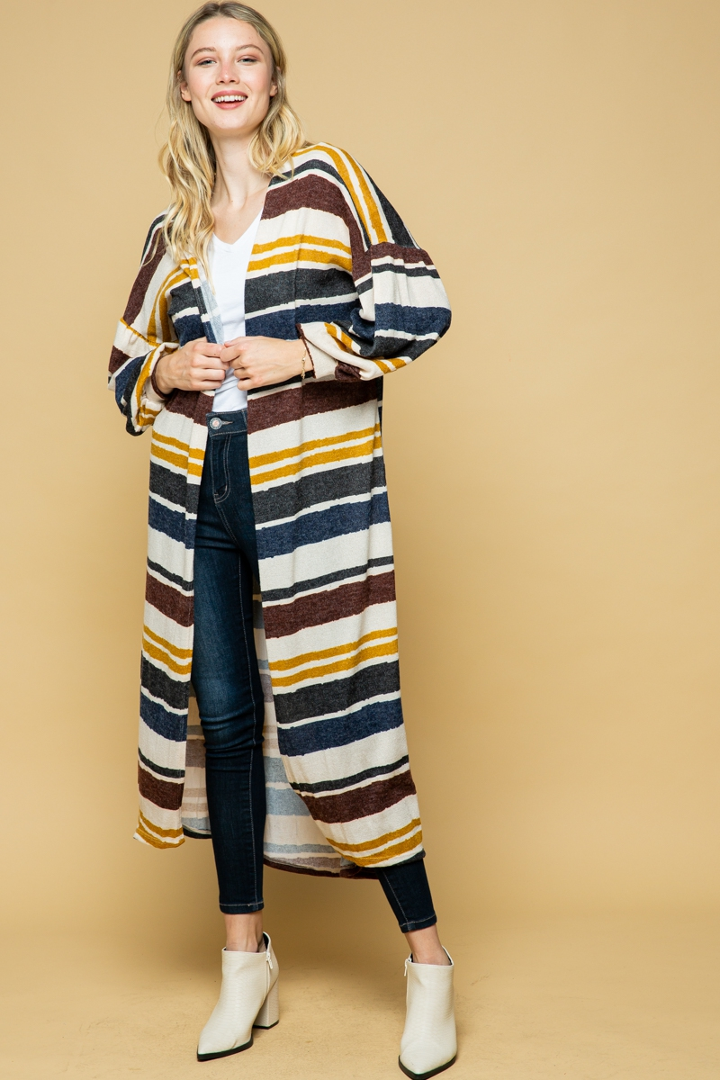 Long Cardigan Duster - orangeshine.com