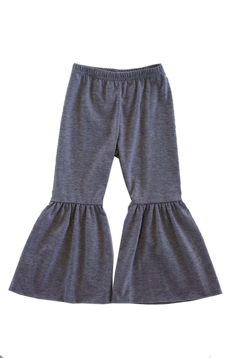 Grey wide bell pants - orangeshine.com