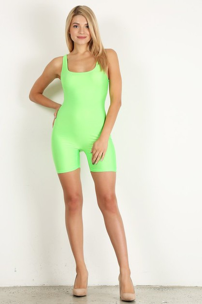 Shiny Tank Short Unitard - orangeshine.com