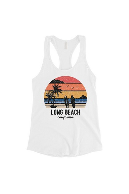 Beach-Long Beach Tank Top - orangeshine.com