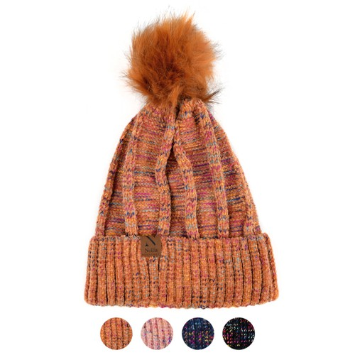 Women Extra Soft Pom Pom Winter Hat - orangeshine.com