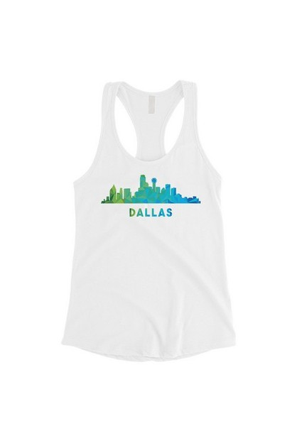 Polygon Skyline-Dallas Tank - orangeshine.com