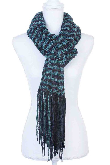 TWO TONE SOFT SCARF - orangeshine.com