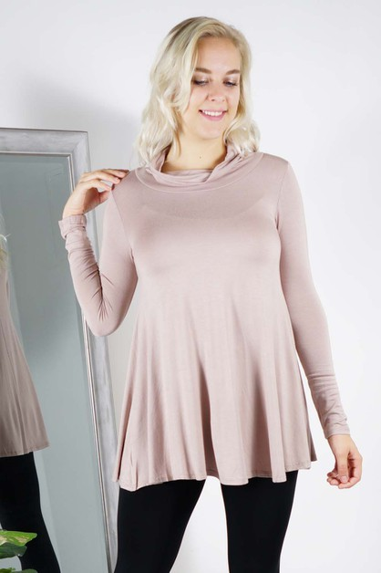 Cow-neck Long Tunic - orangeshine.com