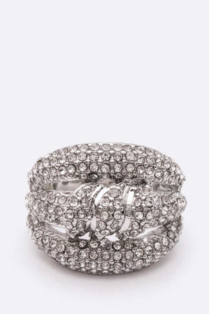 Crystal Iconic Stretch Ring - orangeshine.com