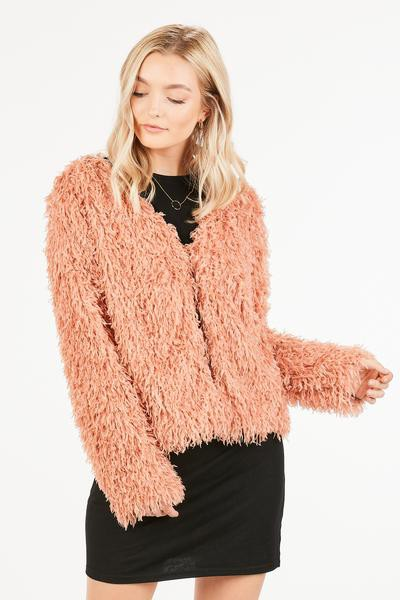 FLUFFY AND LIGHT SOLID JACKET - orangeshine.com