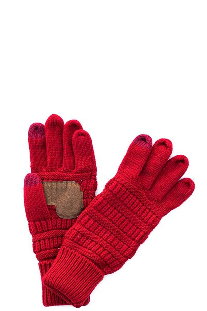 CC Solid Color Fashion Gloves - orangeshine.com
