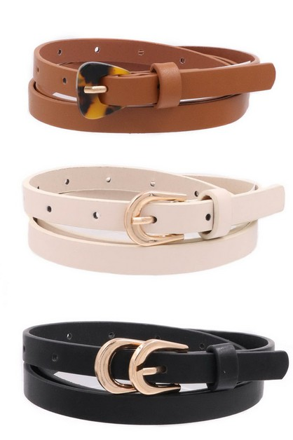 Faux Leather Buckle Set - orangeshine.com