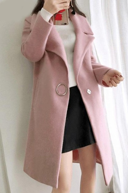 Women casual long coat - orangeshine.com